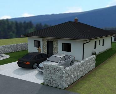 PREDANÉ - stavebný pozemok s projektom v Hubovej